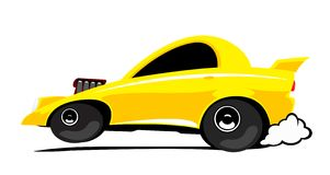 Dragster car. The cartoon dragster car in action Stock Images