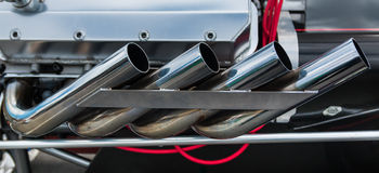 Dragster Exhaust System Stock Photos