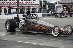 Dragster at the line Stock Photo