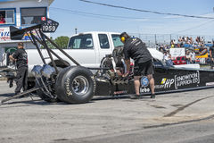Dragster preparation Stock Photos