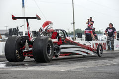 Dragster ready to start Stock Photo