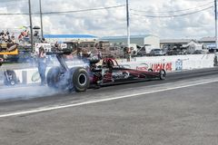 Dragster smoke show Royalty Free Stock Photo