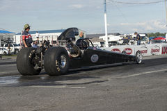 Dragster at the starting line Stock Images