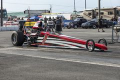Dragster at the starting line Royalty Free Stock Photo