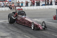 Dragster on the track Stock Images