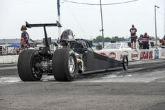 Dragster on the track Royalty Free Stock Images