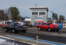 Dragsters Face Off Stock Photography