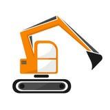 drague hydraulique de chenille de couleur orange Excavatrice Photo libre de droits