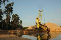 Dragueur de sable au chantier Images libres de droits