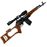 Dragunov sniper rifle. Illustration from online game In Nomine Credimus stock illustration