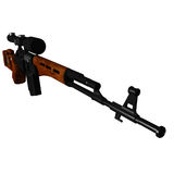 Dragunov Sniper Rifle Stock Photos