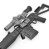 Dragunov sniper rifle gun isolated on white. 3D illustration Royalty Free Stock Photography