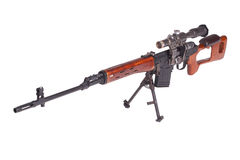 Russian army Dragunov sniper rifle with optic sight Stock Image