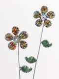 Draht-Blumen stockfotografie