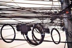 Draht elektrisch lizenzfreie stockfotografie