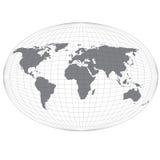 Draht-Kugel-Karte. lizenzfreie abbildung
