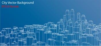 Draht-Rahmen Stadt, Plan-Art Vektor vektor abbildung