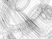 Draht-Rahmengänge mit Wellen Nahaufnahme Vektor Stockfotografie