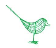 Draht-Vogel lizenzfreie stockbilder