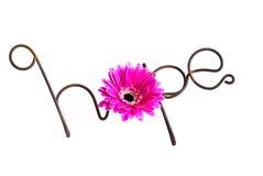 Draht-Wort: Hoffnung Stockbild
