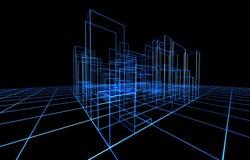 Drahtfelddarstellung der Architektur vektor abbildung