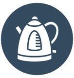 Drahtlos, Teekessel lokalisierte Vektor-Ikone, die in jeder möglicher Größe leicht redigiert werden oder geändert werden kann lizenzfreie abbildung