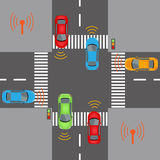 Drahtlose Fahrzeugkommunikationen Stockfotografie