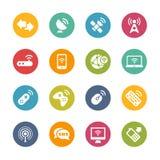 Drahtlose Kommunikationen -- Neue Farb-Reihe Lizenzfreie Stockfotos