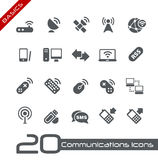 Drahtlose Kommunikations-Ikonen-//-Grundlagen Lizenzfreie Stockbilder