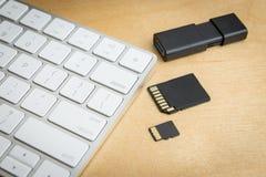 Drahtlose Tastatur- und Gedächtnisspeicher Stockfoto