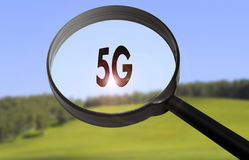 drahtloser Internetzugang 5G Stockfoto