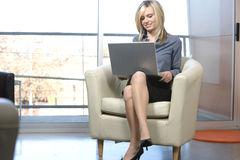 Drahtloser Laptop Lizenzfreie Stockfotos