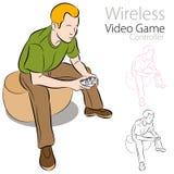 Drahtloser Videospiel-Controller lizenzfreie abbildung