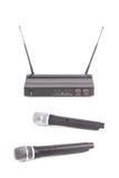 Drahtloses Mikrofon Stockbild
