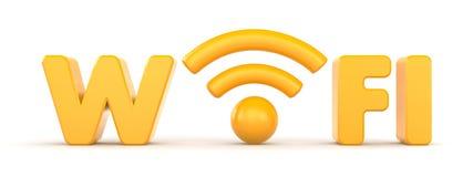 Drahtloses Netzwerk. Wifi Stockfotografie