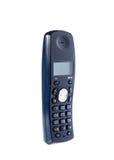 Drahtloses schwarzes Telefon lizenzfreies stockbild