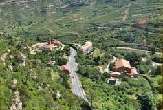 Drahtseilbahn auf Berg Montserrat Lizenzfreie Stockfotos