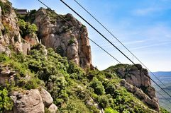Drahtseilbahn auf Berg Montserrat Lizenzfreie Stockfotografie