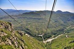 Drahtseilbahn auf Berg Montserrat Lizenzfreies Stockfoto