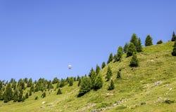Drahtseilbahn Cuneaz (das Aostatal - Nord-Italien) Stockfotos