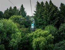 Drahtseilbahn in den Bäumen lizenzfreie stockbilder