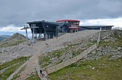 Drahtseilbahn in den niedrigen tatras Stockbild