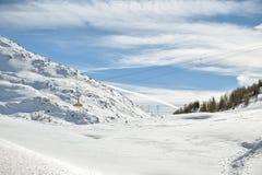 Drahtseilbahn, die in Richtung zu Diavolezza im Diavolezza-Skifahrenerholungsort voranbringt stockbilder