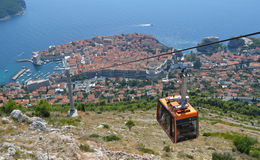 Drahtseilbahn Dubrovnik Lizenzfreie Stockbilder