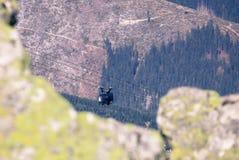 Drahtseilbahn Funitel bei niedrigem Tatras, Slowakei Stockbilder