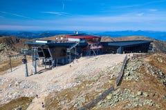 Drahtseilbahn Funitel bei niedrigem Tatras, Slowakei Stockfoto