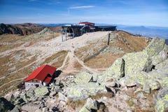 Drahtseilbahn Funitel bei niedrigem Tatras, Slowakei Lizenzfreies Stockbild