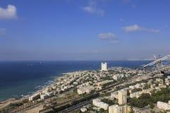 Drahtseilbahn in Haifa Stockfotos