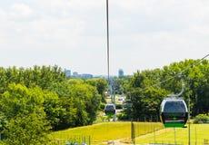 Drahtseilbahn im schlesischen Park Lizenzfreie Stockfotografie