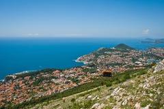 Drahtseilbahn im UNESCO-Erbe Dubrovnik Lizenzfreie Stockbilder